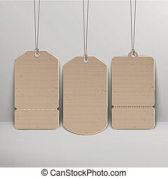 blank brown price tags