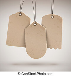 blank brown price tags