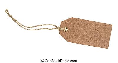Blank brown tag