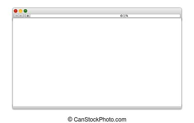 browser window blank web page vector template interface for