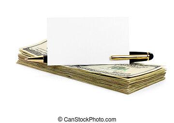 blank business card