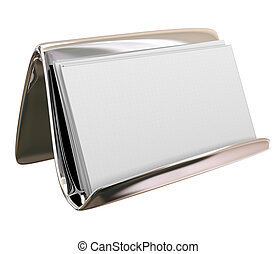 Blank Business Card Holder Copy Space for Your Text Words Message