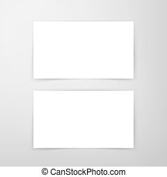 Blank Business Card Mockup