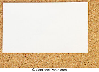 blank business card on cork board