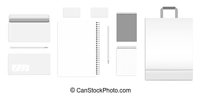 Blank business stationery corporate identity products template