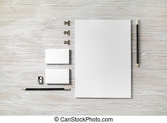Blank business stationery