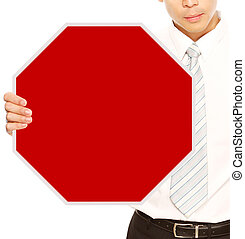 Blank Business Stop Sign