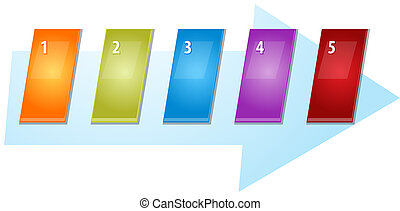 blank business strategy concept infographic diagram slanted...