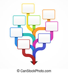 Blank business tree - Template for design, infographics or ...