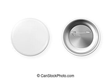 Blank button badge. - Blank button badge isolated on white ...
