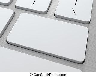 Blank Button on Modern Computer Keyboard.