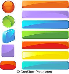 Blank Button Set - blank web icon button set