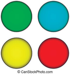 Blank buttons set