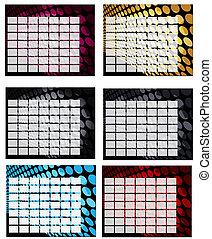 blank calendar grid backgrounds