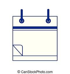 blank calendar icon, flat design