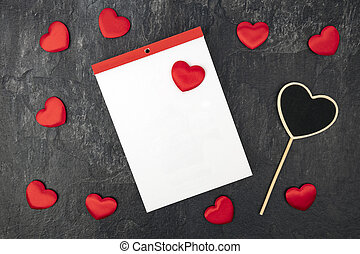Blank Calendar with little hearts