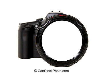 Blank Camera Lens - Distorted Camera Lens on a Body With...