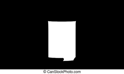 Blank can koozie mockup isolated, looped rotation, clipping...