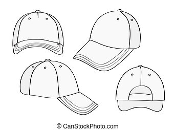 Blank Cap (different points of view) With Space For Your Design