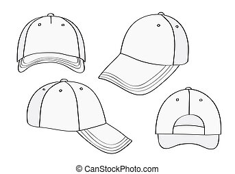 46050c8c691 Blank red caps. Blank cap (different points of view) with space for ...