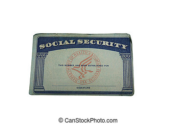 blank card - Blank US social security card isolated on white