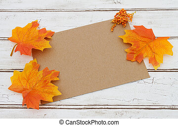 Blank Card for your fall message