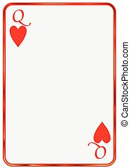 Blank Card Queen Hearts