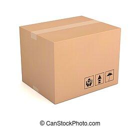 blank cardboard box