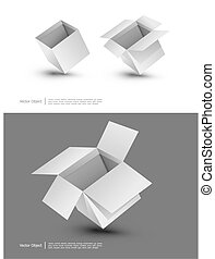 Blank cardboard boxes - Blank cardboard boxes on a white...