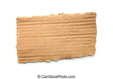 blank cardboard - empty cardboard for a text message ...