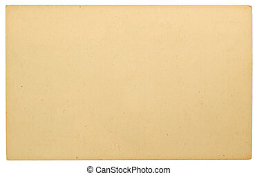 Cardboard Isolated on White Backgro