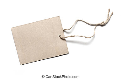 Blank Cardboard Tag Isolated on White
