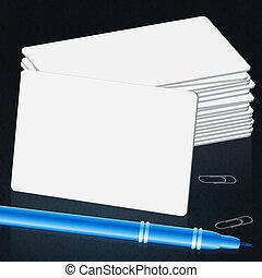 Blank Cards Means Copyspace Paper 3d Illustration
