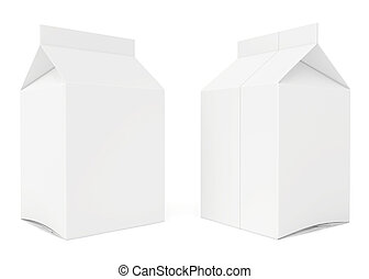 blank carton. 3d render on white background