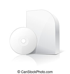 blank carton box for software and disc