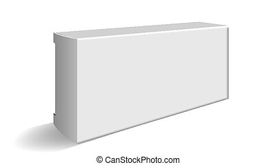 Blank Carton Package For Cosmetic Or Pills Vector