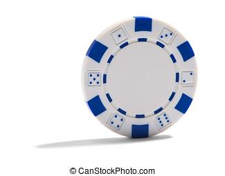 Blank casino or poker chip