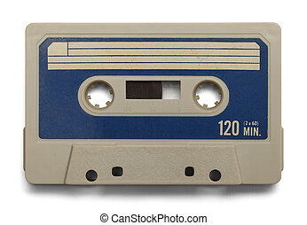 Blank Cassette - Old Cassette Tape With Copy Space Isolated...