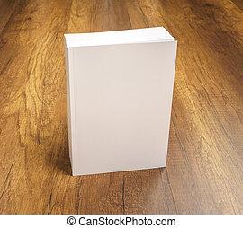 Blank catalog, magazines, book mock up on wood background