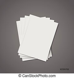 Blank catalog, magazines, book mock up. Vector illustration.