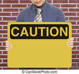 Blank Caution Sign