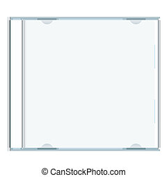 blank cd case - White blank music cd case with room to write...