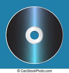 Blank CD Disk Template. Vector Illustration