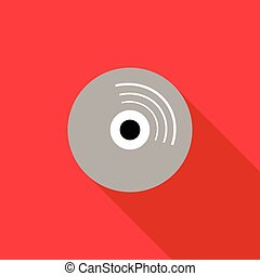 Blank CD icon, flat style