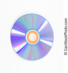 blank CD or DVD on white background