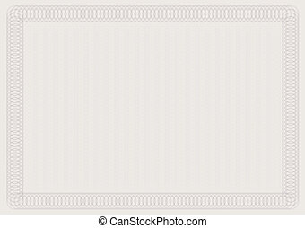 Blank Certificate Template in Shades of Brown