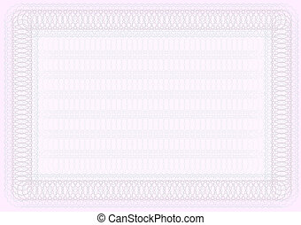 Blank Certificate Template in Shades of Pink