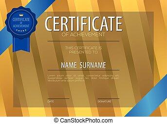 Blank Certified Border Template Vector Illustration