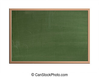Blank chalkboard, isolated - Blackboard in the classroom...