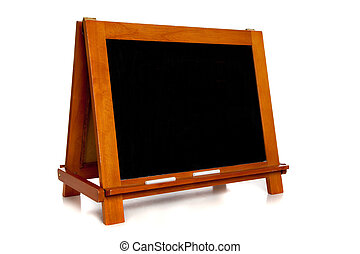 Blank Chalkboard or Blackboard on white